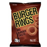 5 PACK of Burger Rings Burger Snacks 90g