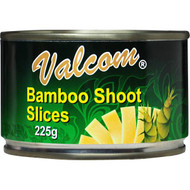 5 PACK of Valcom Canned Bamboo Shoots Sliced 225g