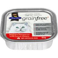 5 PACK of Fussy Cat Grain Free Cat Food Beef & Kangaroo With Sweet Potato 85g