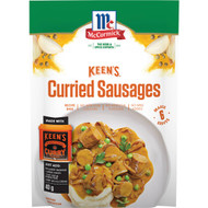 5 PACK of Mccormicks Keens Curried Sausages  40g