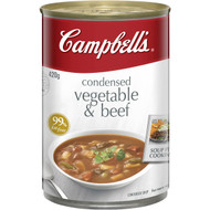 5 PACK of Campbell's Canned Soup Vegetable & Beef 420g