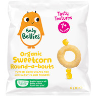 5 PACK of Baby Bellies Organic Round-a-bouts Sweetcorn 12g