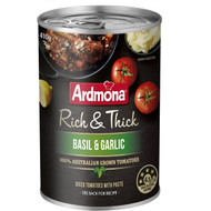 5 PACK of Ardmona Rich & Thick Basil & Garlic Tomatoes 410g