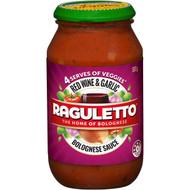 5 PACK of Raguletto Pasta Sauce Red Wine Garlic 500g
