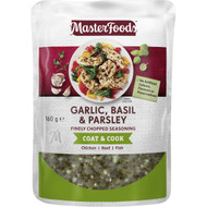 5 PACK of Masterfoods Garlic Basil & Parsley Finely Chopped Seasoning 160g