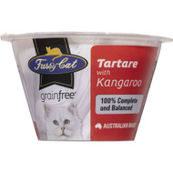 5 PACK of Fussy Cat Grain Free Tartare With Kangaroo Chilled Cat Food 70g
