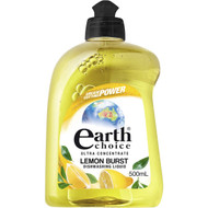 5 PACK of Earth Choice Lemon Burst Dishwash 500ml