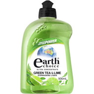 5 PACK of Earth Choice Dishwashing Liquid Green Tea & Lime 500ml