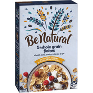 5 PACK of Be Natural Breakfast Cereal With 5 Whole Grain Flakes 325g