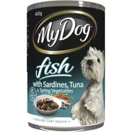 5 PACK of My Dog Fish Sardine & Tuna With Spring Vegetables Dog Food Can 400g