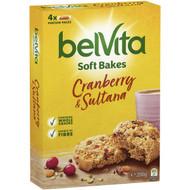 5 PACK of Belvita Soft Bake Cranberry & Sultana 200g