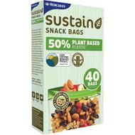 5 PACK of Hercules 50% Plant Based Snack Bags 40 pack