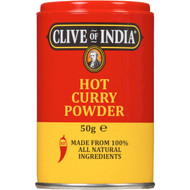 5 PACK of Clive Of India Hot Madras Curry Powder 50g