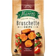 5 PACK of Maretti Bruschette Chips Tomato Olives & Oregano 150g
