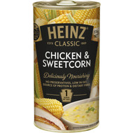 5 PACK of Heinz Classic Canned Soup Chicken & Sweetcorn 535g