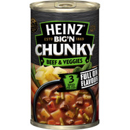 5 PACK of Heinz Big N Chunky Canned Soup Beef & Vegetable 535g