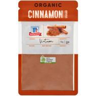 5 PACK of Mccormicks Organic Cinnamon Ground  13g