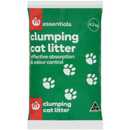 5 PACK of Essentials Cat Litter Clay Clumping 4.5l