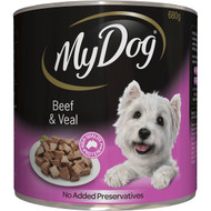5 PACK of My Dog Beef And Veal Loaf Classics Wet Dog Food Can 680g