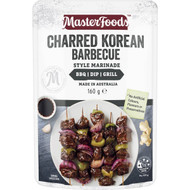 5 PACK of Masterfoods Charred Korean Barbecue Style Marinade 160g
