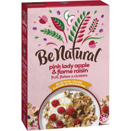 5 PACK of Be Natural Breakfast Cereal With Pink Lady Apple & Flame Raisins 405g