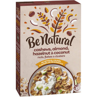 5 PACK of Be Natural Breakfast Cereal With Cashew Almond Hazelnut & Coconut 415g