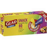 5 PACK of Glad Resealable Snack Bags 60 pack