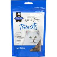 5 PACK of Fussy Cat Grain Free Liver Bites Cat Treats 100g