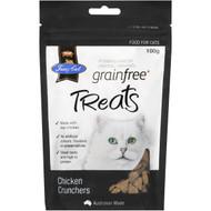 5 PACK of Fussy Cat Grain Free Chicken Crunchers Cat Treats 100g