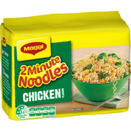 5 PACK of Maggi 2 Minute Instant Noodles Chicken 5 pack