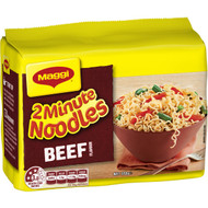 5 PACK of Maggi 2 Minute Instant Beef Noodles 5 pack