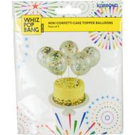 5 PACK of Korbond Mini Cake Topper Confetti Balloons 5 pack
