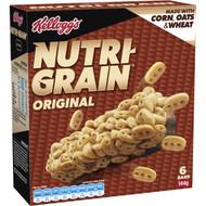 5 PACK of Kellogg's Nutri-grain Original Cereal Snack Bars 144g