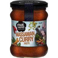 5 PACK of Five Tastes Massaman Curry Paste 210g