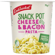 5 PACK of Continental Snack Pot Cheese & Bacon Pasta 70g