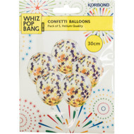 5 PACK of Korbond Stars Confetti Balloons Assorted 5 pack