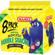 5 PACK of Mamee Noodle Snacks Chicken 8pk 200g