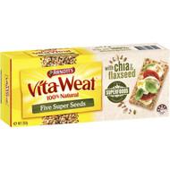 5 PACK of Arnott's Vita Weat Crispbread 5 Super Seeds 250g