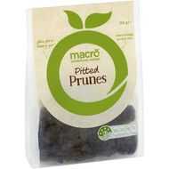 5 PACK of Macro Fruit Prunes Pitted 250g