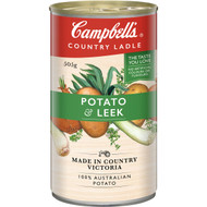 5 PACK of Campbell's Country Ladle Canned Soup Potato & Leek 505g