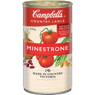 5 PACK of Campbell's Country Ladle Canned Soup Minestrone 495g