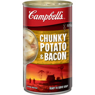 5 PACK of Campbell's Chunky Canned Soup Potato & Bacon 505g