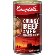 5 PACK of Campbell's Chunky Canned Soup Beef Hearty & Filling 505g