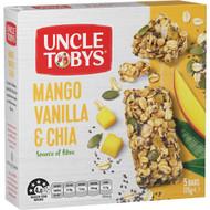 5 PACK of Uncle Tobys Mango Vanilla & Chia Muesli Bar 5 pack