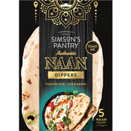 5 PACK of Simson's Pantry Authentic Naan Dippers  5 pack