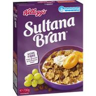 5 PACK of Kellogg's Sultana Bran High Fibre Breakfast Cereal 730g