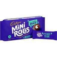 5 PACK of Cadbury Mint Mini Rolls 5 pack