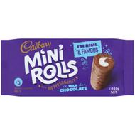 5 PACK of Cadbury Mini Rolls Chocolate 5 pack