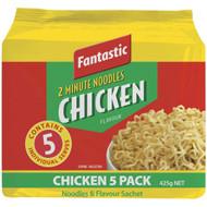 5 PACK of Fantastic 2 Minute Noodles Chicken 5 pack