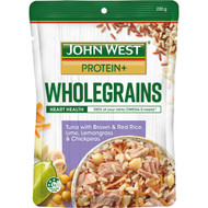 5 PACK of John West Tuna Protein Wholegrains With Brown & Red Rice 220g